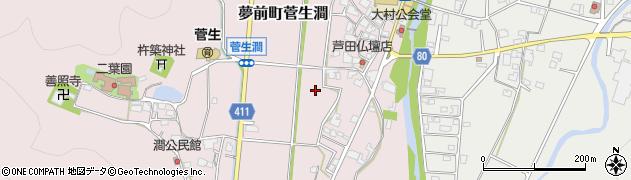 兵庫県姫路市夢前町菅生澗周辺の地図