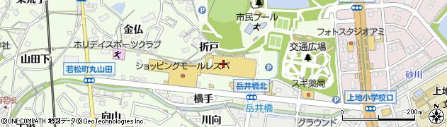 ファミリーお好み焼き若松店周辺の地図
