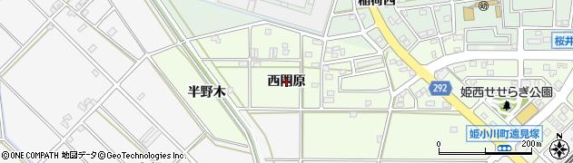愛知県安城市姫小川町(西門原)周辺の地図