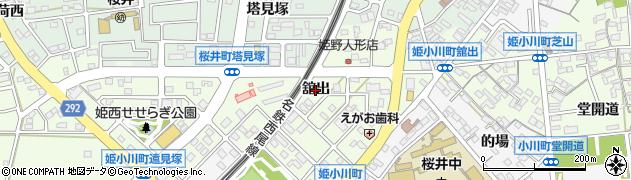 愛知県安城市姫小川町(舘出)周辺の地図