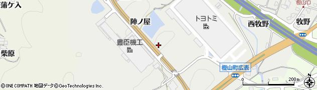 愛知県岡崎市樫山町(神馬口)周辺の地図