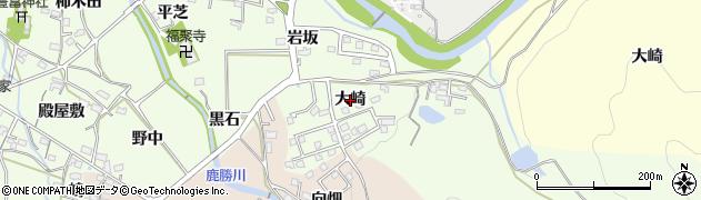 愛知県岡崎市牧平町(大崎)周辺の地図