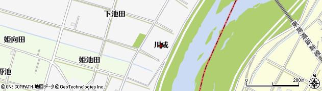 愛知県安城市小川町(川成)周辺の地図