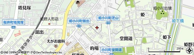 愛知県安城市姫小川町(芝山)周辺の地図