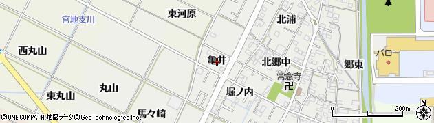 愛知県岡崎市野畑町(亀井)周辺の地図