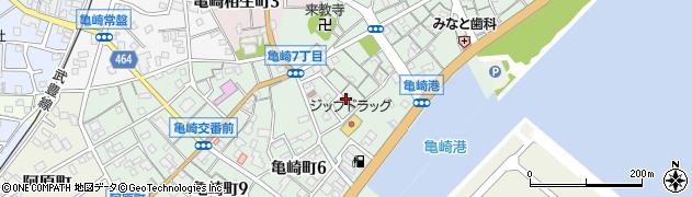 愛知県半田市亀崎町周辺の地図