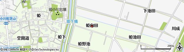 愛知県安城市姫小川町(姫向田)周辺の地図