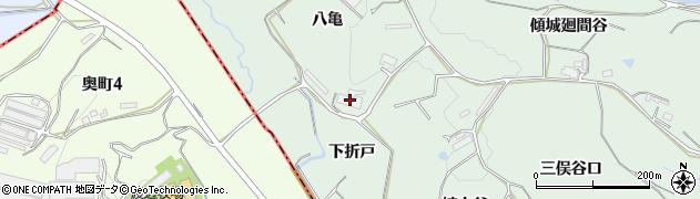 愛知県知多郡阿久比町植大八亀周辺の地図