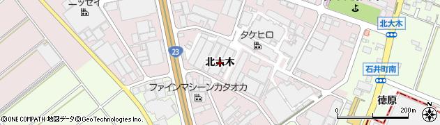 愛知県安城市和泉町(北大木)周辺の地図