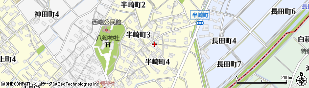 愛知県碧南市半崎町周辺の地図