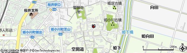 愛知県安城市姫小川町(姫)周辺の地図