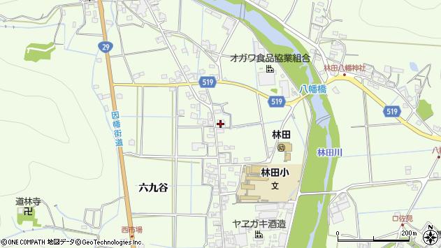 〒679-4211 兵庫県姫路市林田町六九谷の地図