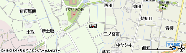 愛知県新城市矢部(広見)周辺の地図