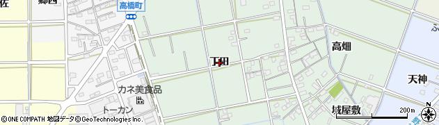 愛知県岡崎市上青野町(丁田)周辺の地図
