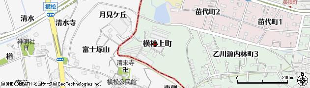 愛知県半田市横松上町周辺の地図
