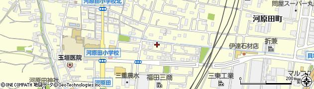 三重県四日市市河原田町周辺の地図