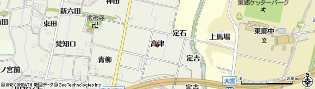 愛知県新城市富永(高津)周辺の地図