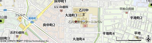愛知県半田市大池町周辺の地図