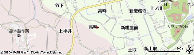 愛知県新城市矢部(高畔)周辺の地図