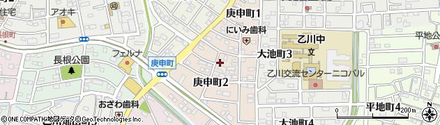 愛知県半田市庚申町周辺の地図