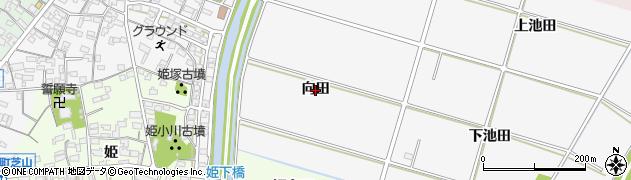 愛知県安城市東町(向田)周辺の地図