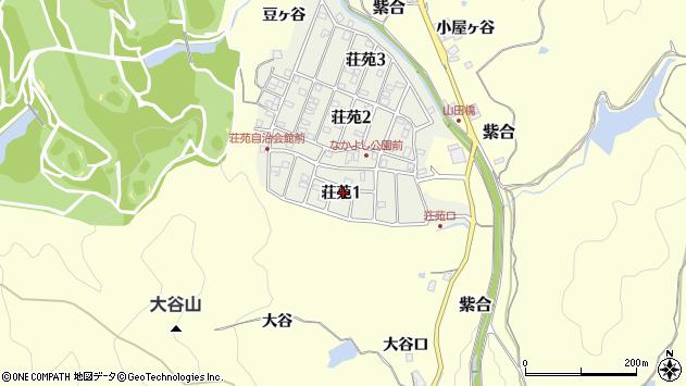 〒666-0238 兵庫県川辺郡猪名川町荘苑の地図