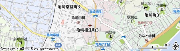 愛知県半田市亀崎相生町周辺の地図