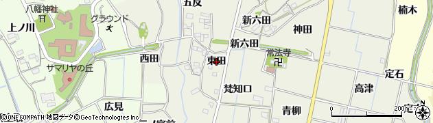 愛知県新城市富永(東田)周辺の地図