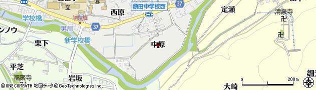 愛知県岡崎市樫山町(中原)周辺の地図