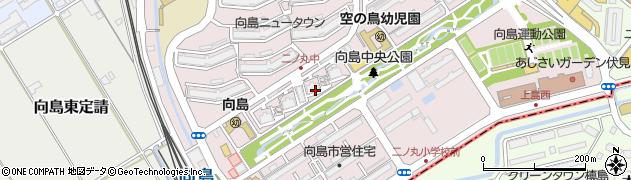 京都府京都市伏見区向島二ノ丸町周辺の地図