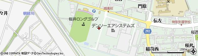 愛知県安城市桜井町(半抜)周辺の地図