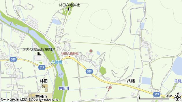 〒679-4215 兵庫県姫路市林田町八幡の地図