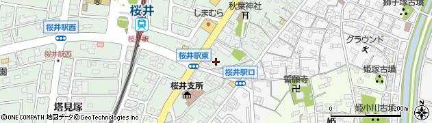 愛知県安城市桜井町(茶屋坊)周辺の地図