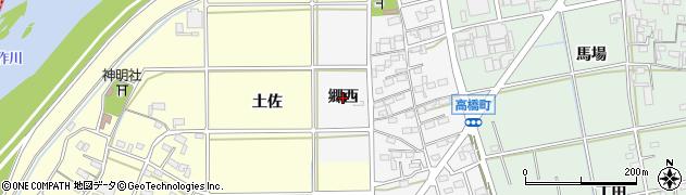 愛知県岡崎市高橋町(郷西)周辺の地図