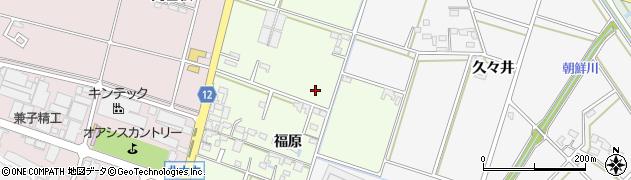 愛知県安城市石井町(福原)周辺の地図