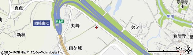 愛知県岡崎市樫山町(大母田)周辺の地図