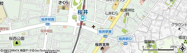 愛知県安城市桜井町(中新田)周辺の地図