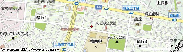愛知県岡崎市緑丘周辺の地図