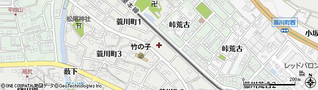 愛知県岡崎市蓑川町(小深田)周辺の地図