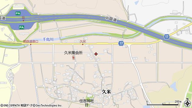 〒673-1416 兵庫県加東市久米の地図