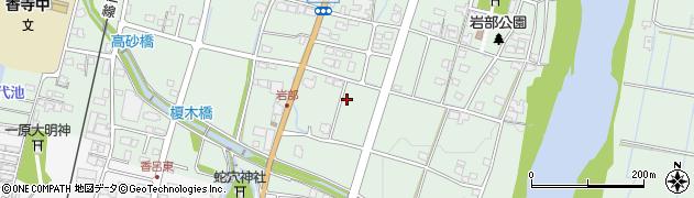 兵庫県姫路市香寺町岩部周辺の地図