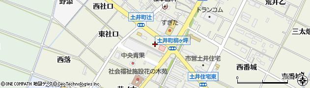 愛知県岡崎市土井町(柳ケ坪)周辺の地図
