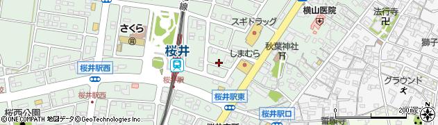 愛知県安城市桜井町(北新田)周辺の地図