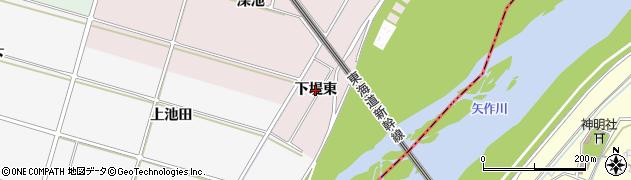愛知県安城市川島町(下堤東)周辺の地図