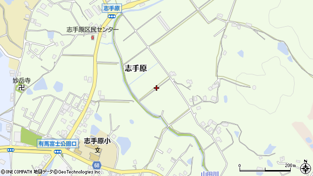 〒669-1506 兵庫県三田市志手原の地図