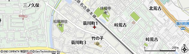 愛知県岡崎市蓑川町(前田)周辺の地図