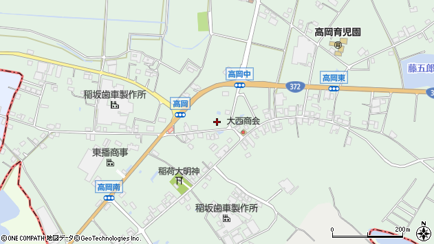 〒679-0222 兵庫県加東市高岡の地図