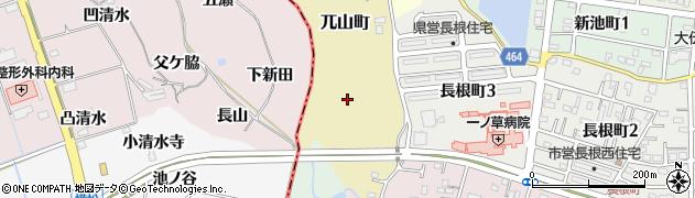 愛知県半田市兀山町周辺の地図