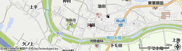 愛知県岡崎市樫山町(河瀬)周辺の地図