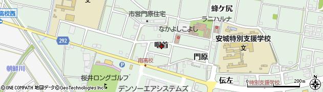 愛知県安城市桜井町(咽首)周辺の地図